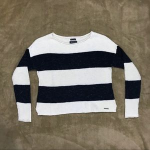 ABERCROMBIE & FITCH Scoop Neck Striped Sweater